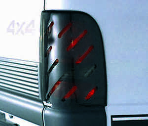 Slotted Smoke Tail Light Covers For 1987 1998 Ford Pickup F 350