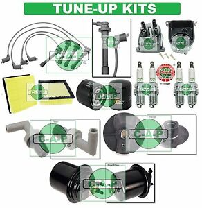 Tune Up Kits For 99 00 Civic Spark Plugs Filters Wire Set Dist Cap
