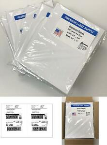 Premium Label Supply 8 5 X 5 5 Half Sheet Self Adhesive Shipping Labels For L