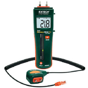 Extech Mo265 Combination Pin pinless Moisture Meter With Remote Probe