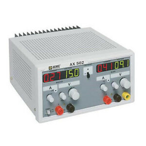 Aemc Ax502 Power Supply single And Dual Output 0 To 2 5a 0 To 30vdc