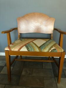 Vintage Art Deco Waterfall Vanity Bench Chair Seat Chair