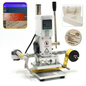 10x13cm Auto Digital Hot Foil Stamping Machine Leather Press Embossing Bronzing