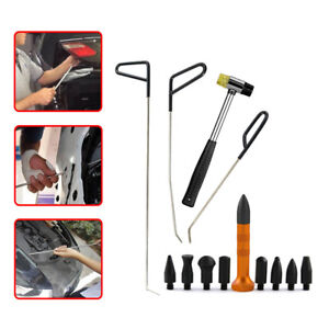 Paintless Dent Removal Auto Body Push Rod Pen Heads Hammer Dent Tool Kit