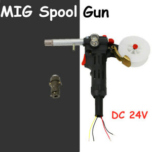 24v Dc Motor Mig Spool Gun Wire Feed Aluminum Welder Torch Weld Tool Usa New