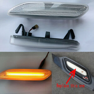 2x Dynamic Led Smoke Fender Side Marker Light For Mini Cooper Countryman Paceman