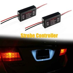 2pcs Led Brake Stop Light Strobe Flash Module Controller Box 12v Gs 100a