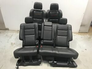 18 Jeep Grand Cherokee Trailhawk Seat Front Rear Left Right Black Leather Oem