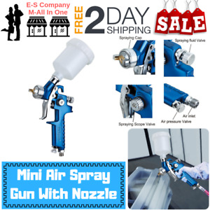 Esmall Mini Air Spray Gun For Paint Touch Up 0 8mm Nozzle 125cc With Keychain