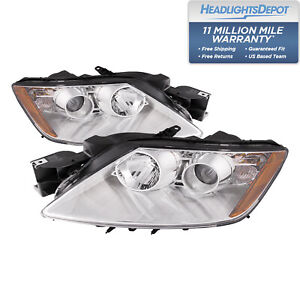 Fits 07 11 Mazda Cx 7 Complete Headlight Assembly Set Pair W Chrome Housing New
