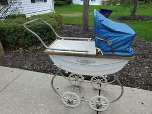 Vintage Antique 1940 S 1950 S Baby Pram Carriage Stroller Great Condition