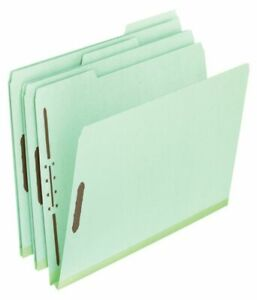 Pendaflex Pressboard File Folders 2 Expansion Legal Size 65 Recycled Gree