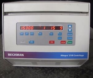 Beckman Coulter Allegra 21r Centrifuge W Rotor Cat 367570 1501