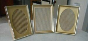 3 Vtg Metal Gold Shadow Box Photo Picture Frames 7 8 Deep X 6 X 8
