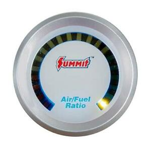 Summit Electrical Air Fuel Ratio Gauge 2 1 16 Dia Silver Face G2885