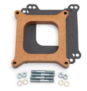 Edelbrock Carburetor Spacer 4 barrel Square Bore 3 4 Wood Open 8719