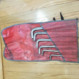 Snap On Tool 6 Piece Sae Hex Allen Wrench Set C67 Tool Bag L Shaped Professional