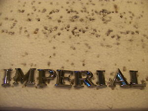 1964 65 66 Chrysler Imperial Trunk Emblems Oem
