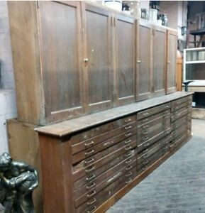 Architect Cabinet Apothecary Map Drawers