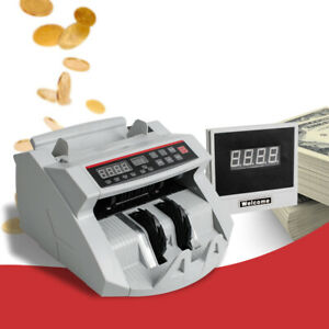 Money Bill Cash Currency Counter Counting Machine Counterfeit Detector Uv mg Usa