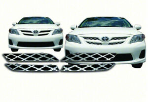 2011 2012 2013 Toyota Corolla Chrome Grille Grill Overlay Insert New