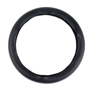 38cm Auto Car Steering Wheel Cover Universal Black Soft Silicone Leather Pattern