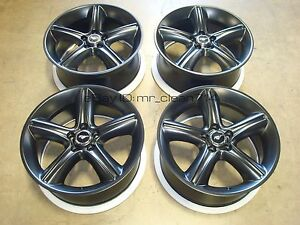 19 2010 12 Ford Mustang Gt Wheels Rims Black Oem 3812 Factory 5 0 11 Premium