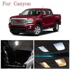17pcs White Led Interior Exterior Light Bulb For 2015 2016 2017 Canyon Colorado