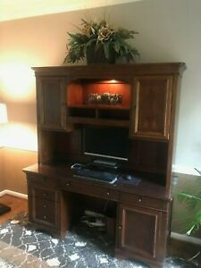 Solid Wood Office Desk Hutch