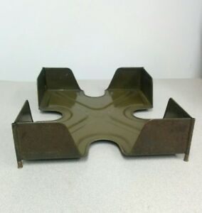 Vintage Y And E Accesso Desk Tray Metal For Office Paperwork
