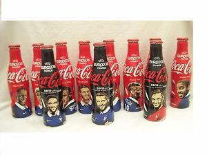 COCA COLA  ALU  BOTTLES EURO 2016   COMPLETED SET FRANCE EURO 2016 NATIONAL TEAM