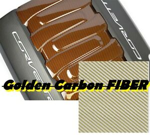 Gold Carbon Fiber Hydrographics Film Water Transfer Printing 393x19 Dip