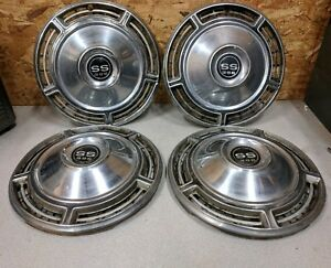 Vintage Set Of 4 396 Ss Hub Caps Chevy Chevelle