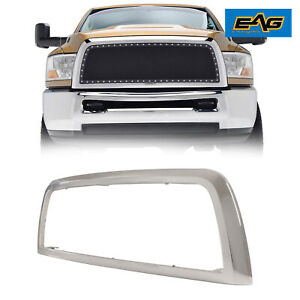 Eag Fits For 2010 2012 Dodge Ram 2500 3500 Front Grille Shell Chrome Abs Plastic
