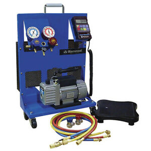 Mastercool 91580 a Portable Charging Station With 1 5 Cfm Vacuum Pump