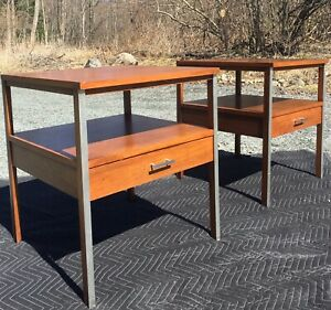 Paul Mccobb Calvin Linear Nightstands Tables Side End Mid Century Modern Vintage