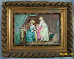 Antique 1900 S 11 X7 Signed A Kaufmann Kpm Hand Painted Nude Porcelain Plaque