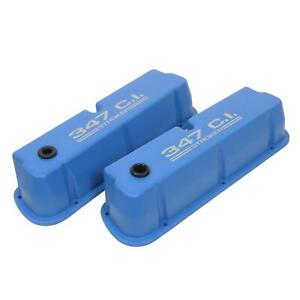 Summit Racing Die Cast Logo Aluminum Valve Covers 440409 Ford Small Block V8