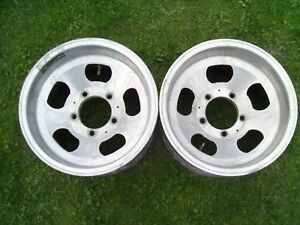 15 X 8 5 Aluminum Slot Wheels 5 Lug 5 1 2 Bolt Pattern Ford F150 Bronco