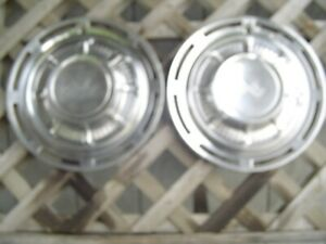 Two 1959 59 Chevrolet Impala Vintage Hubcaps Wheel Covers Center Caps Antique