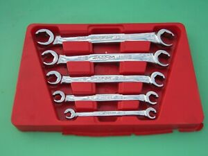 Snap On Rxfs605b 5 Pc Sae Flare Nut Line Fitting Wrench Set 1 4 13 16