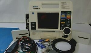 Lifepak 12 12 Lead Biphasic Analyze Pacer El Screen Etco2 Sp02 100mm Printer