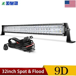 32 Inch Led Light Bar 9d Spot Flood Combo Offroad Driving Truck 4wd 32 Wiring