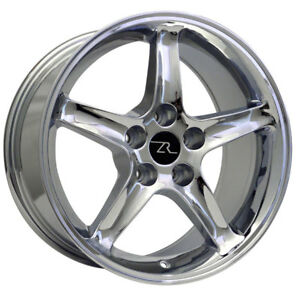17 Chrome Ford Mustang Cobra R Replica Wheels Set 4 17x9 Rims 5x114 3 94 04