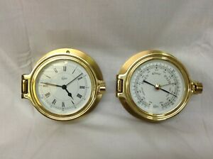 All Brass Barigo Germany Ships Boat Yacht Aneroid Weather Barometer
