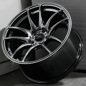 18x9 5 Hyper Black Wheels Vors Tr4 5x108 35 Set Of 4