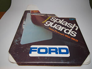 Vintage Ford Car Truck White Splash Guards Mud Flaps 12x18 Gp Thermoflex Nos