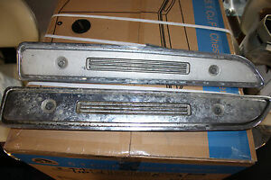 1968 Plymouth Barracuda Chrome Hood Inserts Will Fit 1967 Also Jsh