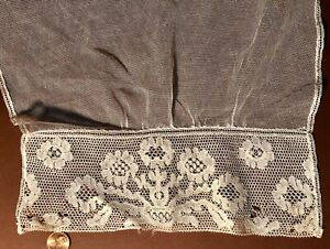 Vintage Machine Lace Potten Kant Sleeve Collector Show And Tell