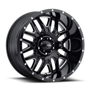 Ultra 203 Hunter 18x9 6x135 Et 18 Black milled Accents And Clear Coat qty Of 4